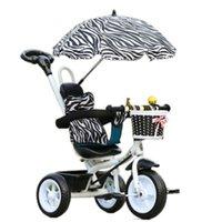 Triciclo carrinho de criança bicicleta mão empurrar três rodas criança bicicleta bebê passeio no carro por 1-5 anos velho