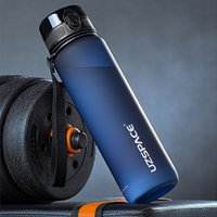 UZSPACE 17OZ / 500ML زجاجة مياه بلاستيكية تسرب برهان drinkware BPA مجانا للرياضة والجري والدراجات عبر البلاد