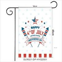 NewUnsa Independence Day Ponge Garden Flag 30 * 45cm feliz 4 de julho jardim ao ar livre pendurado bandeira gnomos design jardim bandeira ewb5669