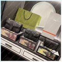 الكلاسيكية المرأة الكتف حقيبة crossbody marmont حقائب عالية الجودة إمرأة فاخر مصممين حقيبة 2021 رسول سلسلة مخلب محفظة B2106291L