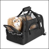 Home & Garden Car Seat Ers Supplies Pet Carrier 600D Nylon Waterproof Dog Cat Puppy Kitten Bag Outdoor Travel Carrying Bags Soft Bed Backpac