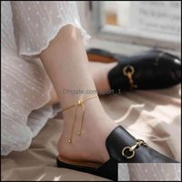 Anklets Jewelry2021 Luxury Designs Gold Color Stainless Steel Ankle Bracelet Feet Jewelry Friendship Gifts Vintage Snake Chain Anklet For Wo