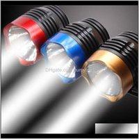 조명 사이클링 Q5 LED 3 모드 전면 헤드 램프 헤드 라이트 토치 산악 도로 자전거 용 방수 4 색 자전거 라이트 257 W2 HVDNW PBW2J