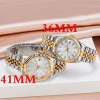Supermarket_Watches U1 Quality Mens Relógios 36 / 41mm Movimento Automático Relógio de Aço Inoxidável 36 / 41mm Mulheres 2813 Mecânica relógios de pulso Luminoso Montre de Luxe