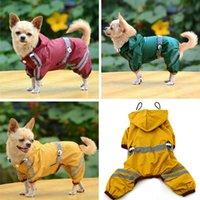 Dog Apparel Puppy Pet Cool Raincoat Glisten Bar Hoody Waterproof Rain Lovely Jackets Coat Clothes THIN889