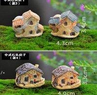 NewGarden Decorazioni Carino Mini Pietra Casa Fata Miniatura Misuratore Micro Cottage Decorazione del paesaggio Resin Artigianato EWD6668