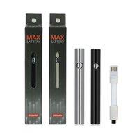 Max Caricabatterie Kit batterie elettroniche Batterie sigarette elettroniche 380mAh Tensione regolabile per 510 Threading VAPE serbatoi Nero Argento Fit Glo cartucce
