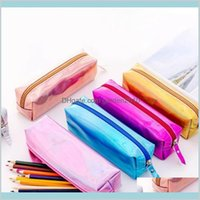 Pencil Bags Cases & Office School Supplies Business Industrial Iridescent Laser Case Quality Pu Stationery Gift Pencilcase Cute Box To