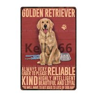 Pet Warning Dog Rules Parking For Golden Beware Kiss Metal Sign Home Decor Bar Wall Art Painting 20*30 CM Size DG20
