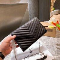 Damen Diagonal Bag Mode Designer mit Buchstaben Muster Eine Schulterkette Taschen Hochwertige Handtasche WF2103312
