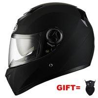 Motorcycle Helmets Matte Black Full Face Helmet With Dual LensRacing Casco Casque Moto Double Sun Lens Visors For Adults