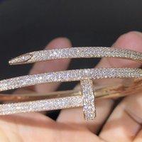 Nail armband 2.0 Designer Guld Bangles Armband Lyx Smycken Kvinnor Rostfritt stålpläterad Ej allergisk Aldrig Fadedds