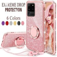 Shiny Bling Phone Cases for Samsung Galaxy S21 S20 FE Note 20 Ultra A52 A72 Note 8 9 S10 S9 Plus Stand Glitter Star Cover fit iphone 12 11 promax