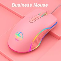 Mice RGB Gaming Mouse Computer Gamer USB  Type C Port Wired Optical PC Mause 3200dpi 7Keys For Laptop Games