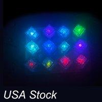 조명 색상 변경 노란색 LED 광선 라이트 아이스 큐브 파티 호의 다채로운 플래시 빛나는 결혼식 축제 미국 주식