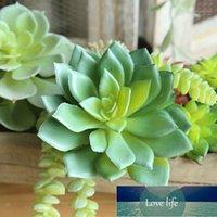 Fleurs décoratives couronnes plantes artificielles faux succulent lotus fleur pour bureau jardin décor bricolage suclulents plante maison decora