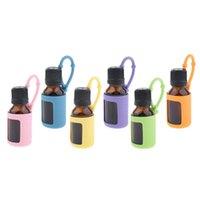 Бутылки для хранения JARS 15 мл Эфирное содержание эфирного масляного баллона с силиконовой крышкой втулки - 6 цветов. Дополнительно