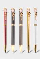New Creative Peach blossom Gel Pens Fashion Pens For School Office Stationery Elegant Women Girl Gift