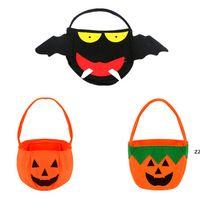 Halloween Kürbis Candy Eimer Halter Tragbare Fledermaus Geschenkbeutel Trick Requisiten Halloween Party Dekoration HWB9115