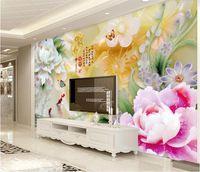 Wallpapers Jade Carvings Large Papel De Parede 3D Wall Mural Paper For Living Room Backdrop Custom Po Wallpaper Walls