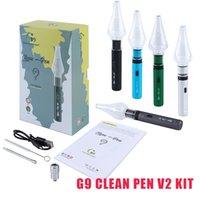 Original G9 Clean Pen v2 Kit 2 em 1 vaporizador Seco Herb Cera Atomizer Starter Kits E-Cigarros Vape 1000mAh Bateria Ajustável Tensão 100% Autêntico
