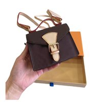 Loui Vuitto Designer Women coin purse brown Old flower Mini bag 14cm Original hardware suspend handbag Long shoulder strap wallet crossbody tote Designers gift WEK