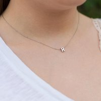 Mode winzige anfängliche Halskette Gold Silber Farbe Schnitt Buchstaben Einzelname Choker Halsketten für Frauen Anhänger Schmuck Geschenk