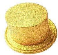 Cappelli jazz in polvere oro mago cappello mago nero rosso rosa verde giallo viola blu cpas bambini masquerade show cap gwd6566