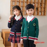 Pullover Boys And Girls Cardigan Sweater Coat College Style Children's Sweaters Chorus Preppy Kintwear School Uniform For Student