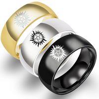European and American hot rings sun evil power super natural ring titanium steel ring Supernatural