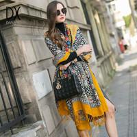 Dana Xu 2020 nuovo marchio di lusso oversize 100% lana gialla pashmina foulard femme bufanda mujer bandana donne hijab sciarpa pashmina x0722