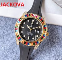 Simple Designer Famous Colorful Big Diamonds Ring Watches Luxury Fashion Men And Women Steel Band Quartz Movement Clock DAYDATE President Super Wristwatches