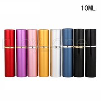 6ml 10ml Perfume Bottle Portable Mini Aluminum Refillable Bottles Spray Empty Makeup Containers With Atomizer For Traveler RRA4448