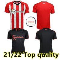 21 22 Is Jerseys de futebol - Prowse 2021 2022 Casa Red 3rd DJenepo Armstrong Camisa de Futebol Set Long Adams Romeu Vestergaard Homens Kit Uniforme