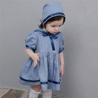 ارتداء الملابس الصيفية 2020 الفتاة الإسبانية الفتاة قصيرة الأكمام التنورة الأميرة البحرية للأطفال