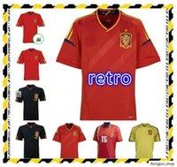 Retro Classic 1994 2002 España 2010 Jerseys de fútbol Guardiola Torres David Villa Ramos A.Iniesta PITA PITA CAMISETA RETRO DE FÚTBOL