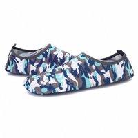 Hommes Femmes Surf aqua Sports Summer Water Shoes Extérieur Ultra Light Slip sur la plage Swim Piscine décontractée Perque douce Plongée respirante O6LP #