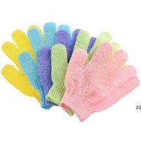 Банные кисти для очистки тела Душевая перчатки для душа Отшелушивающая перчатка Пять пальцев Ванная комната Домашние принадлежности HWB8324