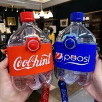 Cartoon Creative Cola Cola Palha Garrafa de Água Americana Material de Tratin Plástico para levar Cool Point Waters Copos Gyq