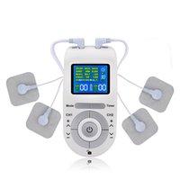 12 modos Máquina de unidades de dezenas com 4 almofadas de eletrodo para massagem de pulso de alívio da dor EMS estimulação muscular dezenas electroestimulador