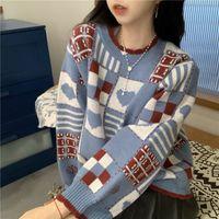 Sweaters pour femmes Japonaise Romptori Sweater va avec hiver, blouse élégante femme, conception drôle de base. Tztu