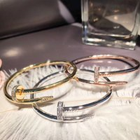 Titanium Steel Diamond Nail Bracelet Dames Mode Européenne et Américaine Big Populaire Chaîne simple Diamant Bracelet Bracelet Pulseira Bijoux