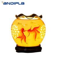Saszetki 220 V Lampa Aroma Ceramiczna Elektryczna ściemniacza Olej Palnik Goldfish Kadzidełka Burners Home Essential Dyfuzor Romantyczny zapach