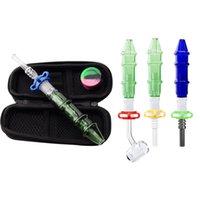 Headshop999 CSYC NC012 Wasserhaare 14mm Öl Rigs Bongs Rauchen Pipe Bag Set Titan Quarz Banger Nagel Clip DAB Rig Bong