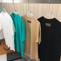 최신 디자이너 LuxUrs Mens T 셔츠 블랙 화이트 그린 디자인 편지 셔츠 남성 여성 T 셔츠 짧은 소매 대형 SM L XL