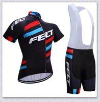 팀 펠트 사이클링 저지 세트 투어 드 프랑스 반팔 Ropa Ciclismo 여름 자전거 착용 퀵 드라이 MTB 자전거 의류 Y210409155