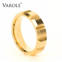 VAROLE Matte Punk Pyramid Ring Gold Color Stainless Steel Lady Finger Rings For Women Minimalist Fashion Jewelry Anillos Mujer