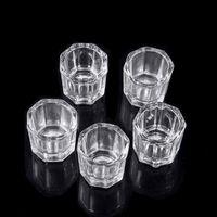 Acrílico líquido pó depen prato de vidro cristal copo ferramenta para a arte nail