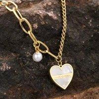 Earrings & Necklace Women Set Temperament Stainless Steel Love Shell Heart Bracelet Jewelry Sets For