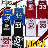 Mens NCAA Unterer Mersion 33 Bryant Jersey College Basketball Trikots Hightower Crenshaw 44 Rot Weiß Schwarz Blaue Schulkleidung